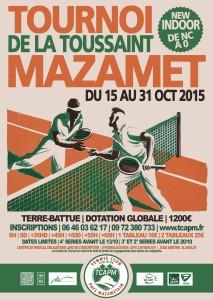 TCAPM - Affiche Tournoi de la Toussaint 2015