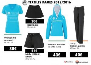 TCAPM - TEXTILES DAMES 2015-2016