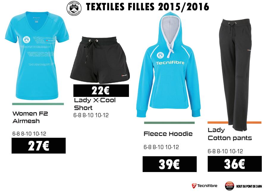 TCAPM - TEXTILES FILLES 2015-2016