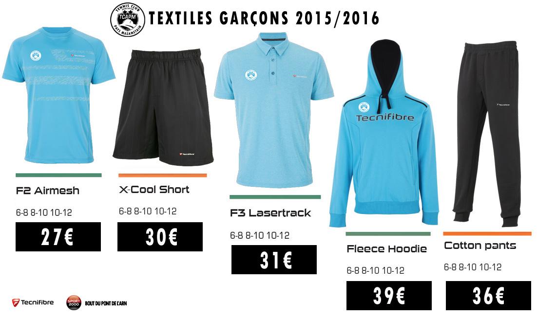 TCAPM - TEXTILES GARCONS 2015-2016