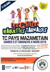 TCAPM - Affiche Petites Raquettes Tarnaises 2016