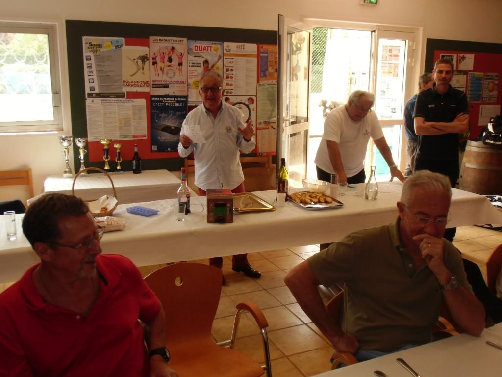 Jean lors des finales +65 ans à Mazamet