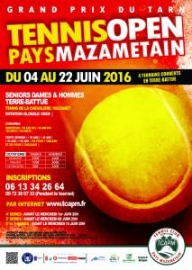 TCAPM - Affiche  Open Pays Mazamétain 2016 pour site 2