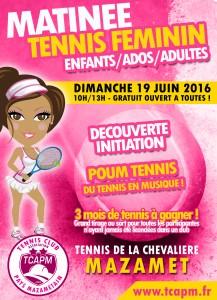 TCAPM - Matinée féminine 19 juin 2016