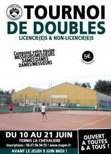 affiche tournoi de doubles