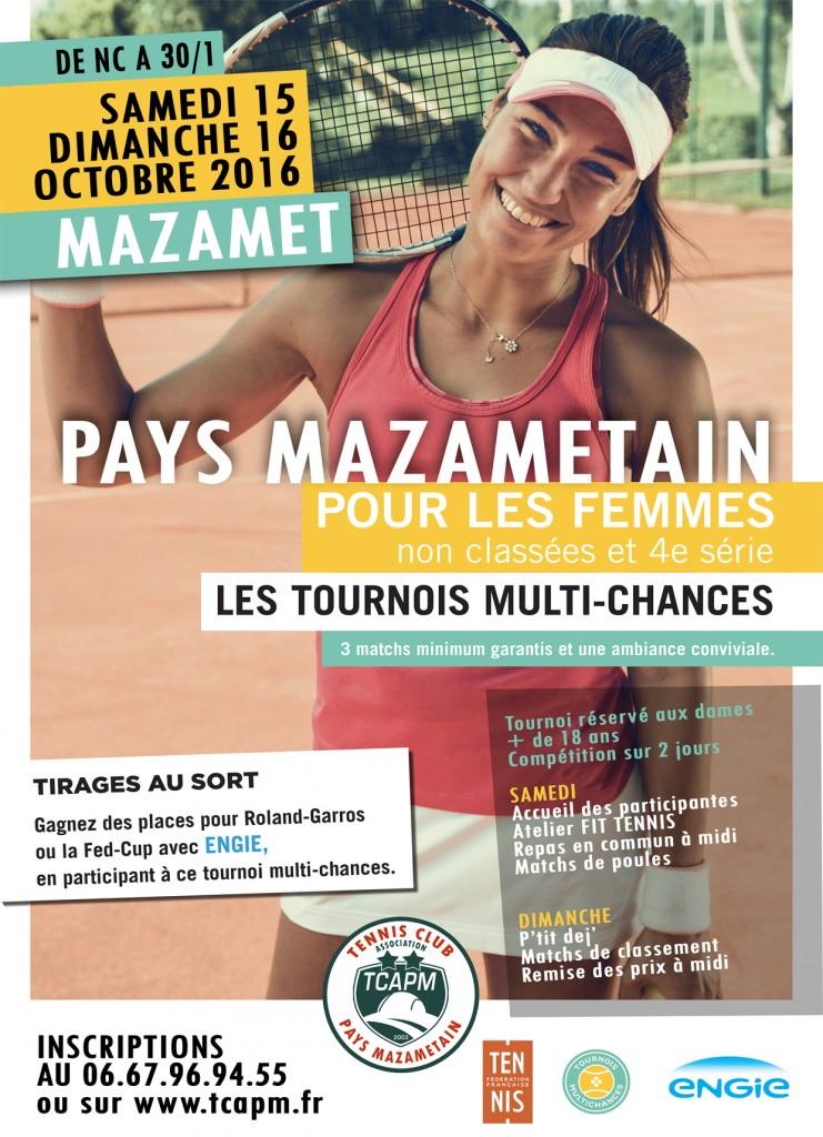 TCAPM - Affiche TMC Dames Pays Mazamétain Automne 2016 PETITE