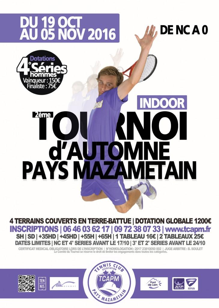 TCAPM - Affiche Tournoi d'Automne 2016 petite