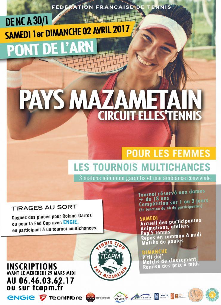 TCAPM - Affiche TMC Dames Pays Mazamétain Avril 2017